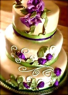 green and purple wedding cakes purple gold green wedding search my future with 14959