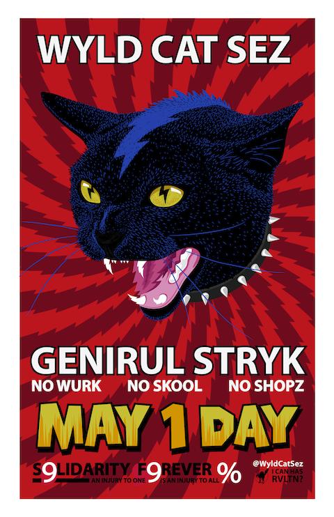 wildcat mayday strike written as it's spoken Wild cats