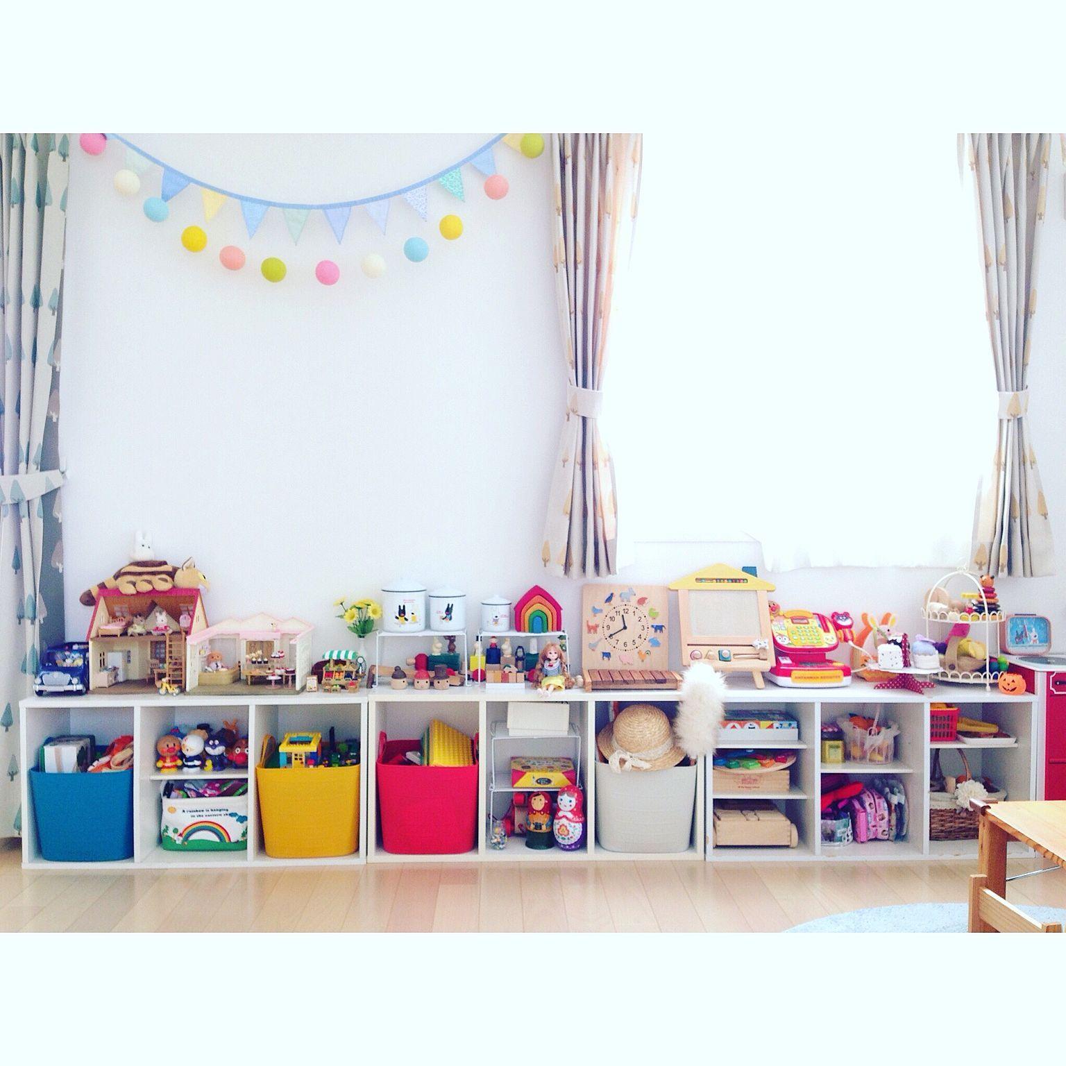 壁 天井 子供部屋は楽しく 4歳 カラフル こどもと暮らす などの