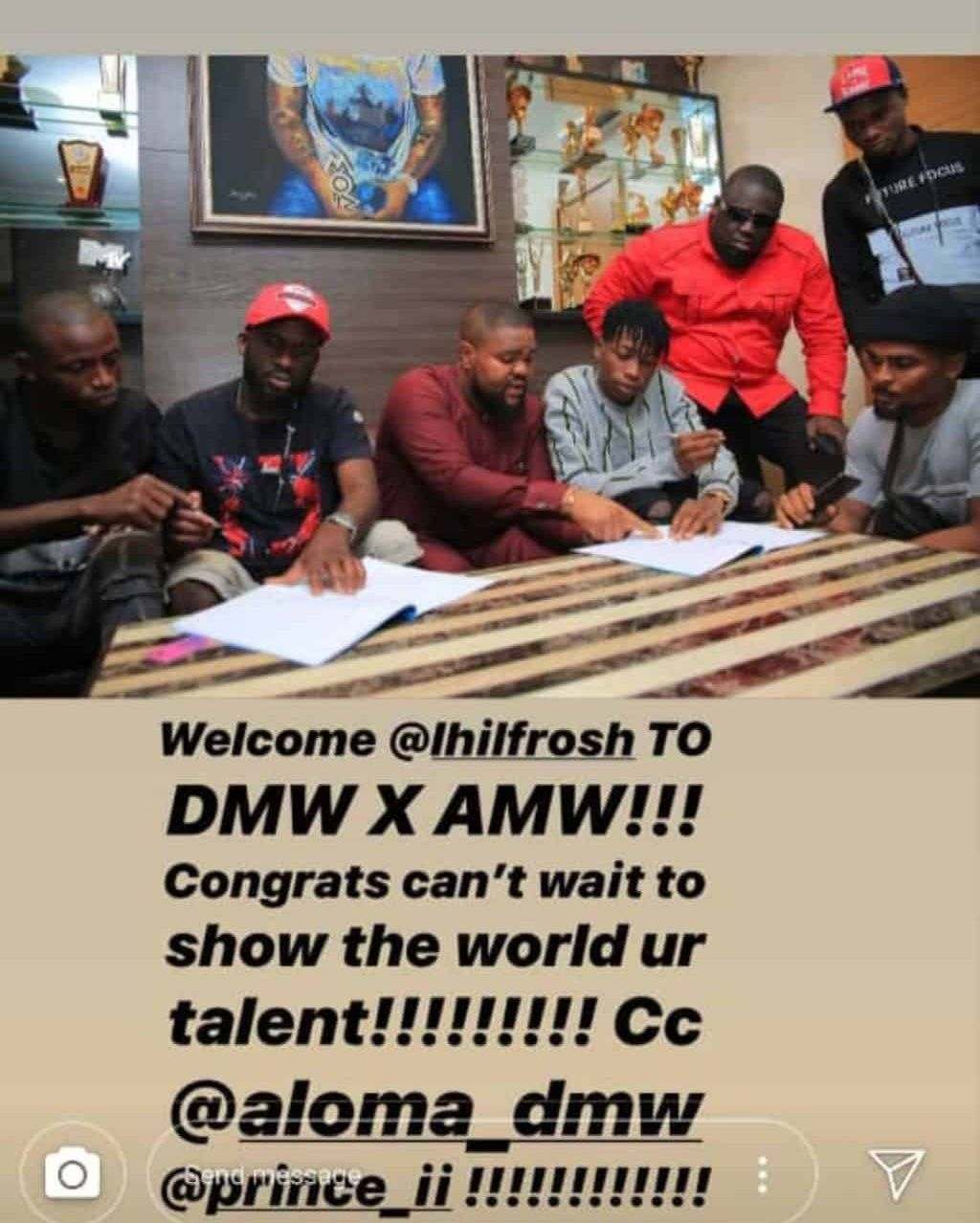 See the new artist DAVIDO signed into DMW Record label | New