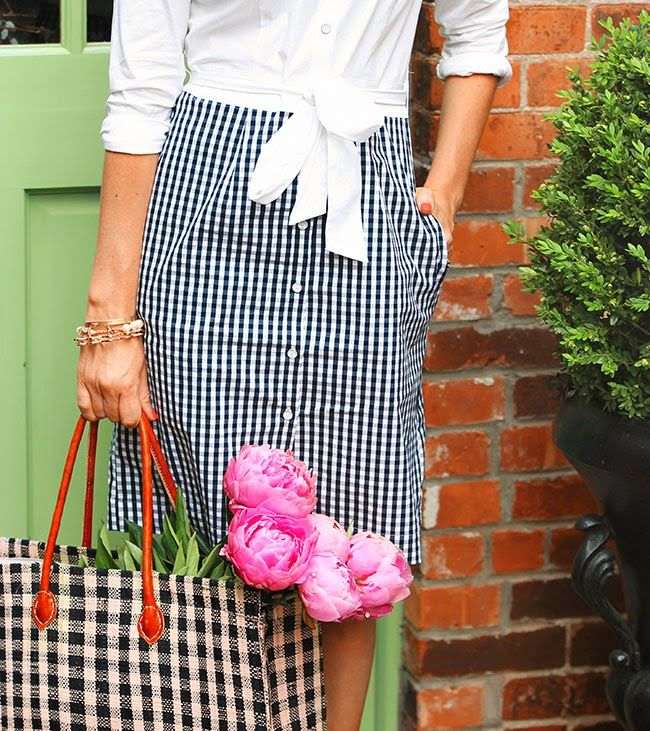 Brooks Brothers gingham dress .