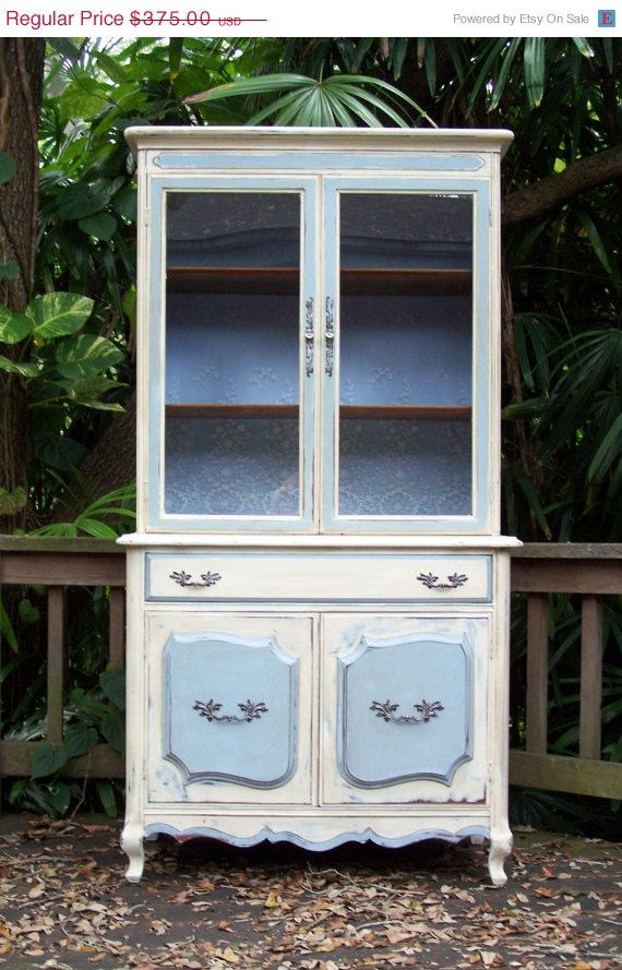 Painted Hutch / Cupboard by Junk Drawer Divas on etsy.