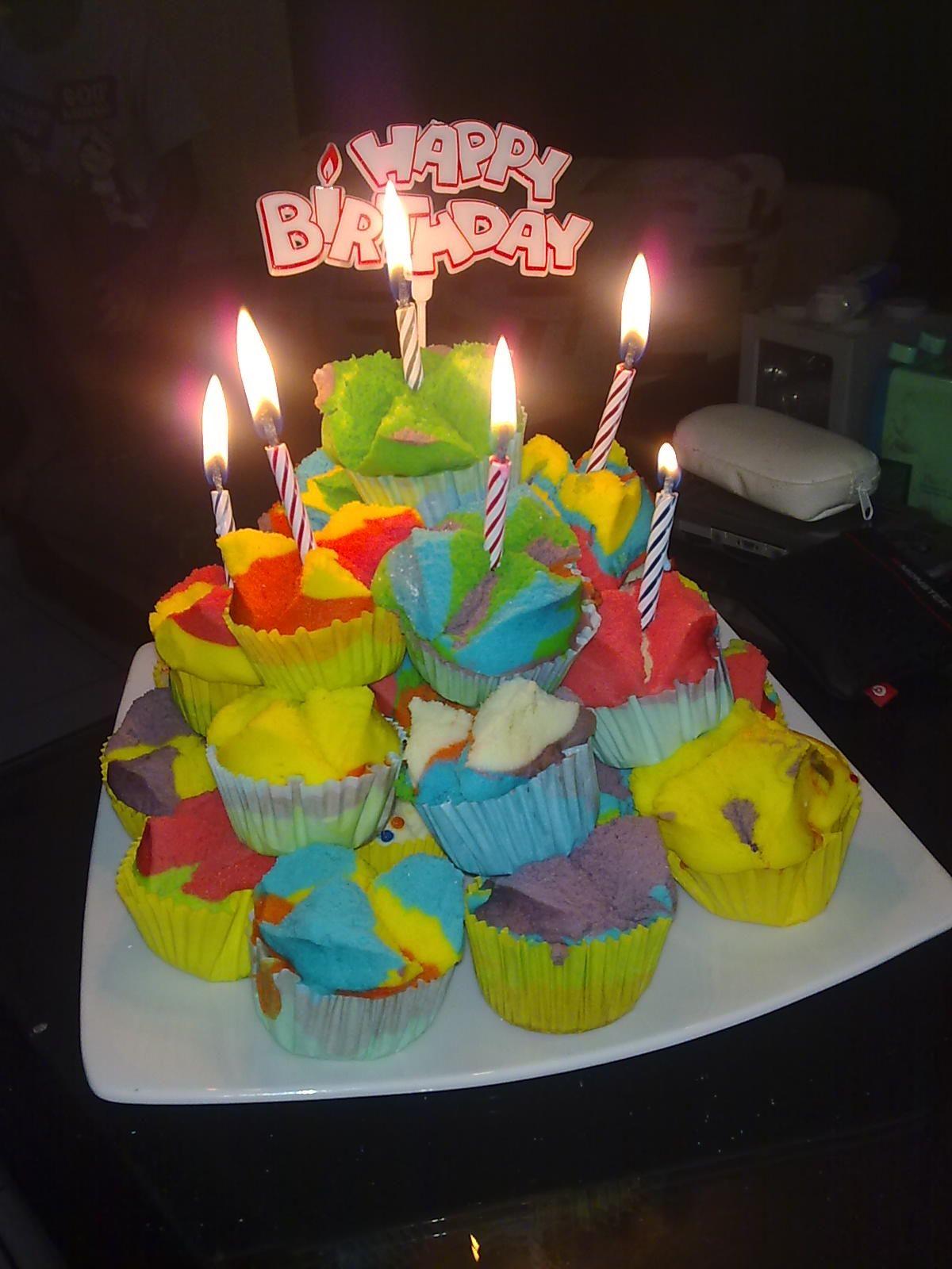 Rainbow Bolu Kukus Indonesia For my Cousins Birthday KUE BOLU