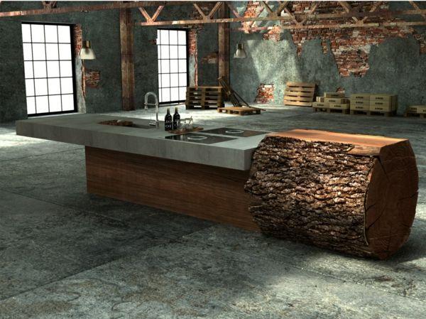 arbeitsplatte mit betonoptik k chenarbeitsplatten aus beton vor und nachteile. Black Bedroom Furniture Sets. Home Design Ideas