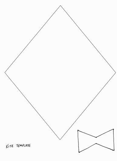 Kite Template | Preschool | Pinterest