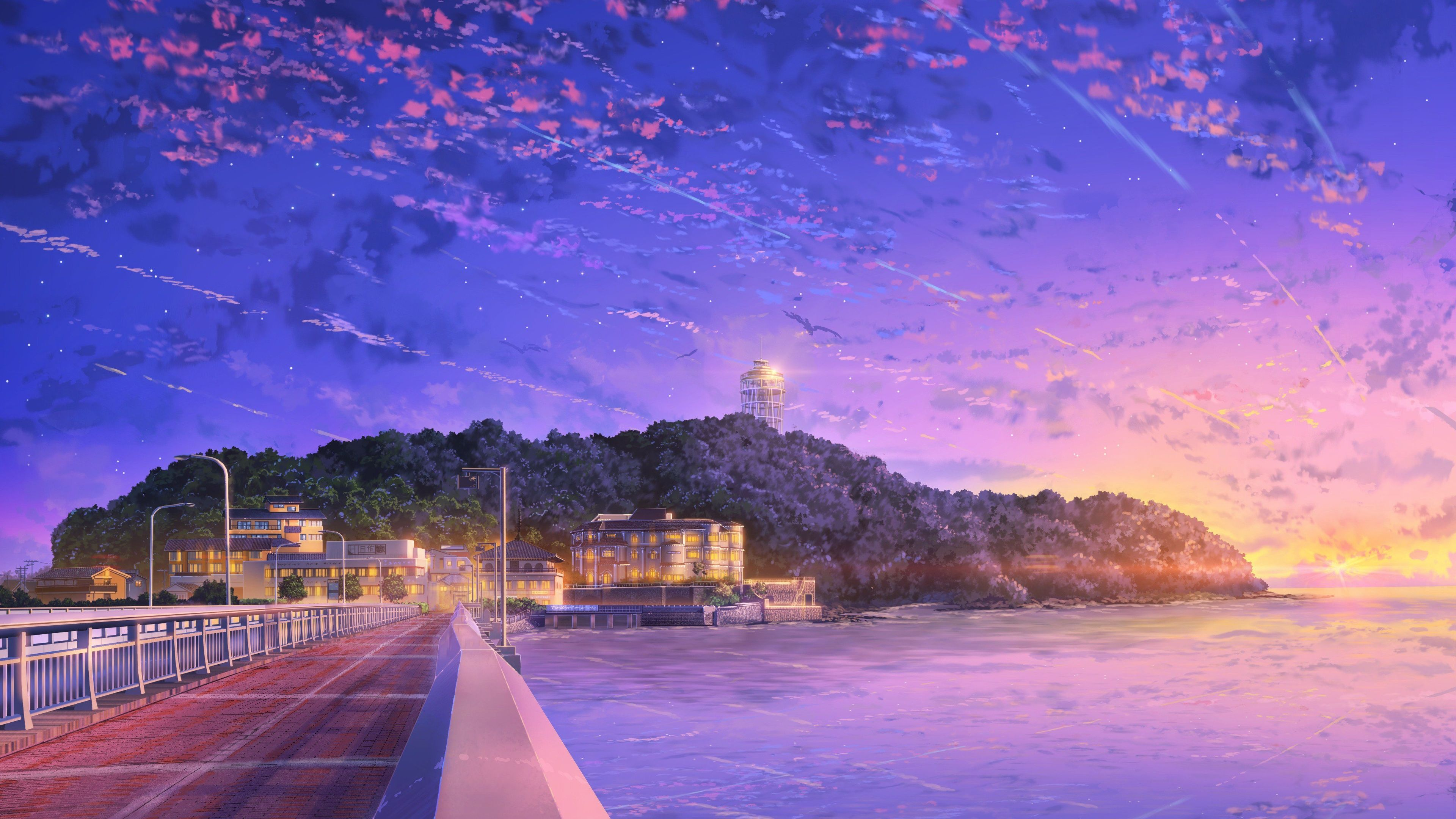 Japan Anime Sky Sky Wallpapers Japan Wallpapers Hd Wallpapers Anime Wallpapers 4k Wallpapers In 2020 Anime Backgrounds Wallpapers Scenery Wallpaper Anime Scenery