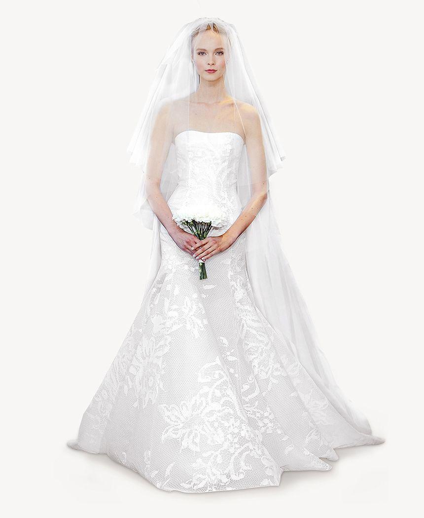 Trumpet Style Wedding Gowns: Carolina Herrera - Bridal Spring 2014
