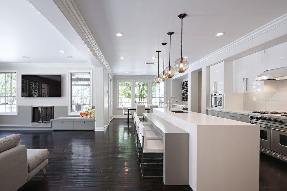 kitchens with dark wood floors - Google Search Belmont Gardens - küchenzeile ohne hängeschränke