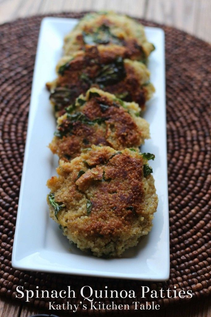 Spinach Quinoa Patties | Kathy's Kitchen Table