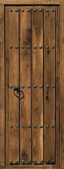 Puerta rustica zocodover hoja 70cm pinteres - Puertas de entrada de madera rusticas ...