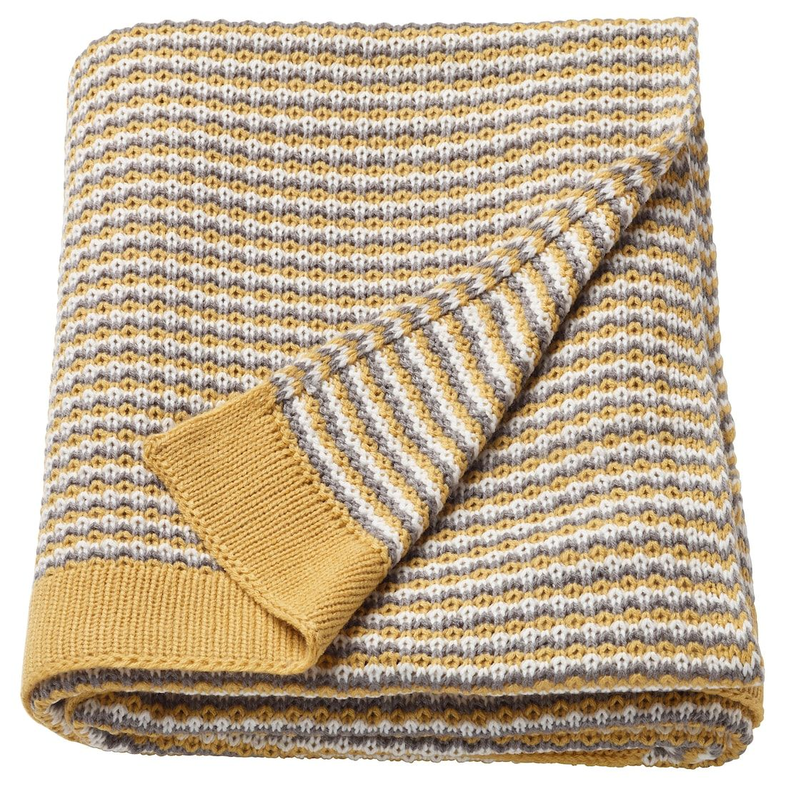 ORMHASSEL Throw - yellow, gray #graybedroomwithpopofcolor