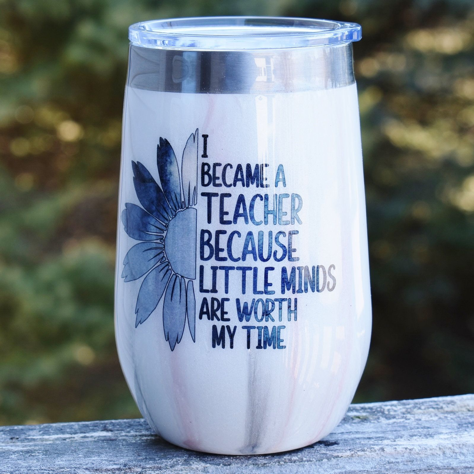 74e7e0cb26a RTS Teacher Theme 16 oz glitter mica wine tumbler | Pearlized Tumbler |  Teacher Gift | Gift for her | Wine Lover | Stainless Steel