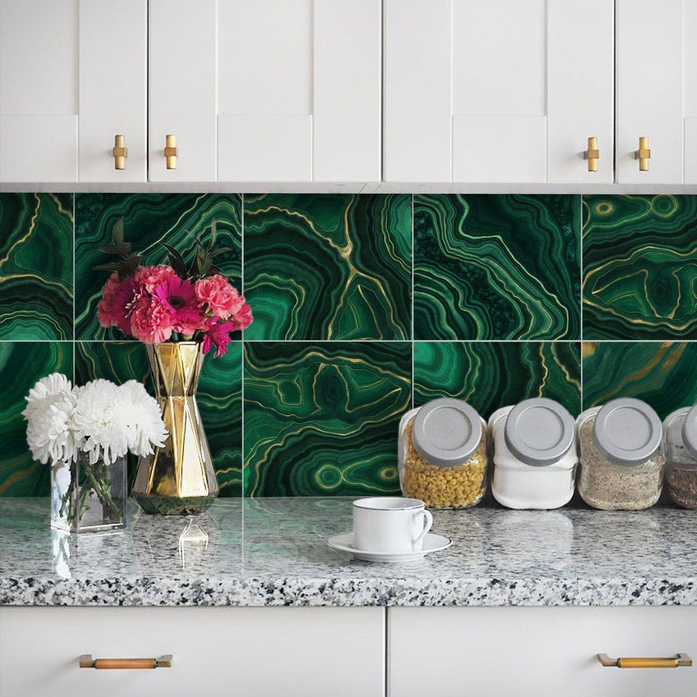 Stickers Tile Waterproof Wall View earthenware decor kitchen bathroom Fish
