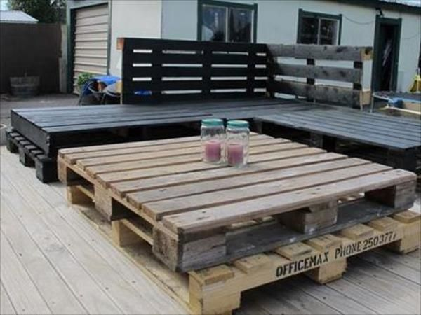 Garden Furniture From Wooden Pallets what's more creative than patio furniture made out of pallets
