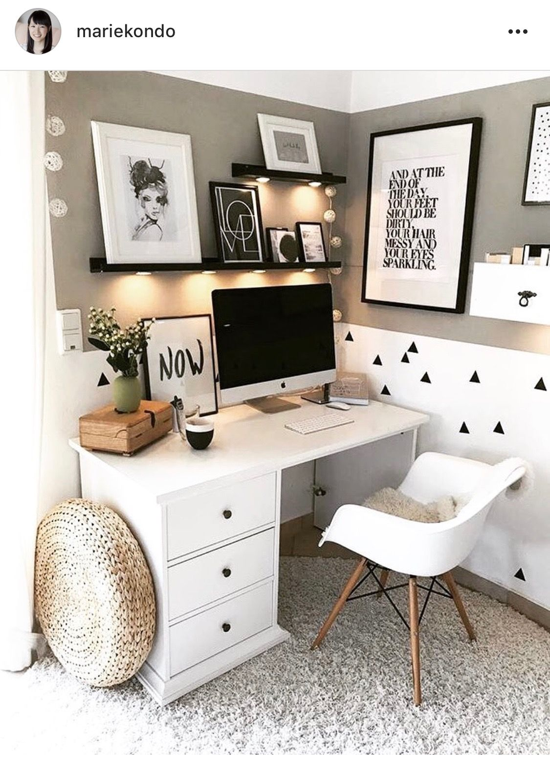 - Bedroom Desk Via @tuliprim Home Office Space, Guest Room Office