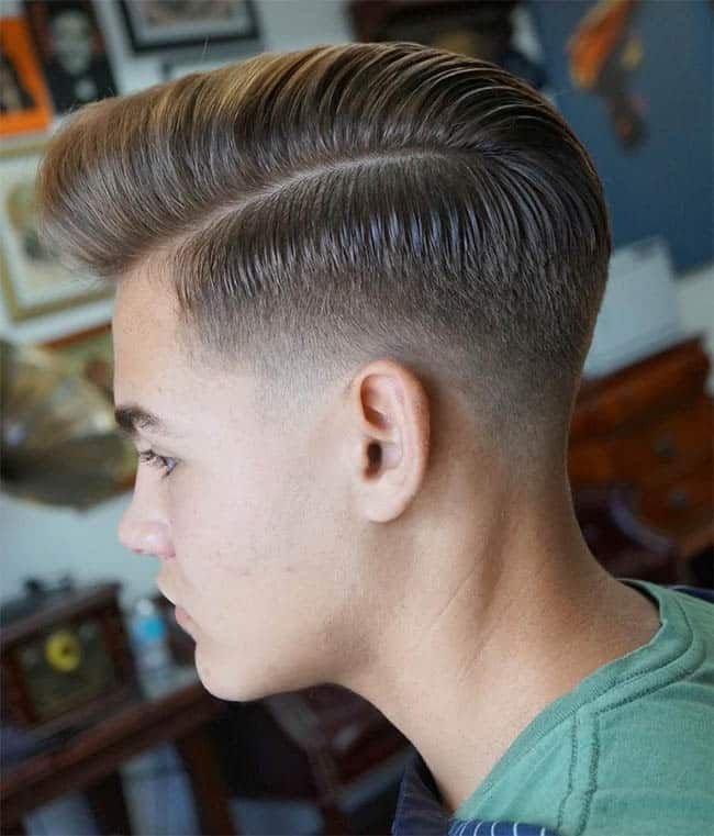 stylish comb over fade