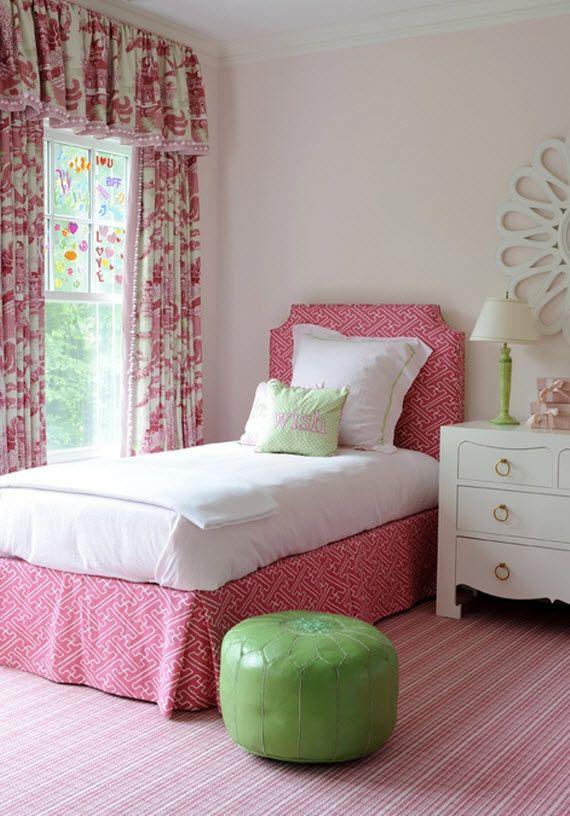 Pink Little Girl's Bedroom - Kerry Hanson Design