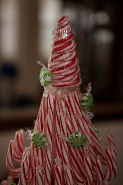 Christmas Decorations Candy Canes Would Be Great To Do For An Officeespecially One Where Customers
