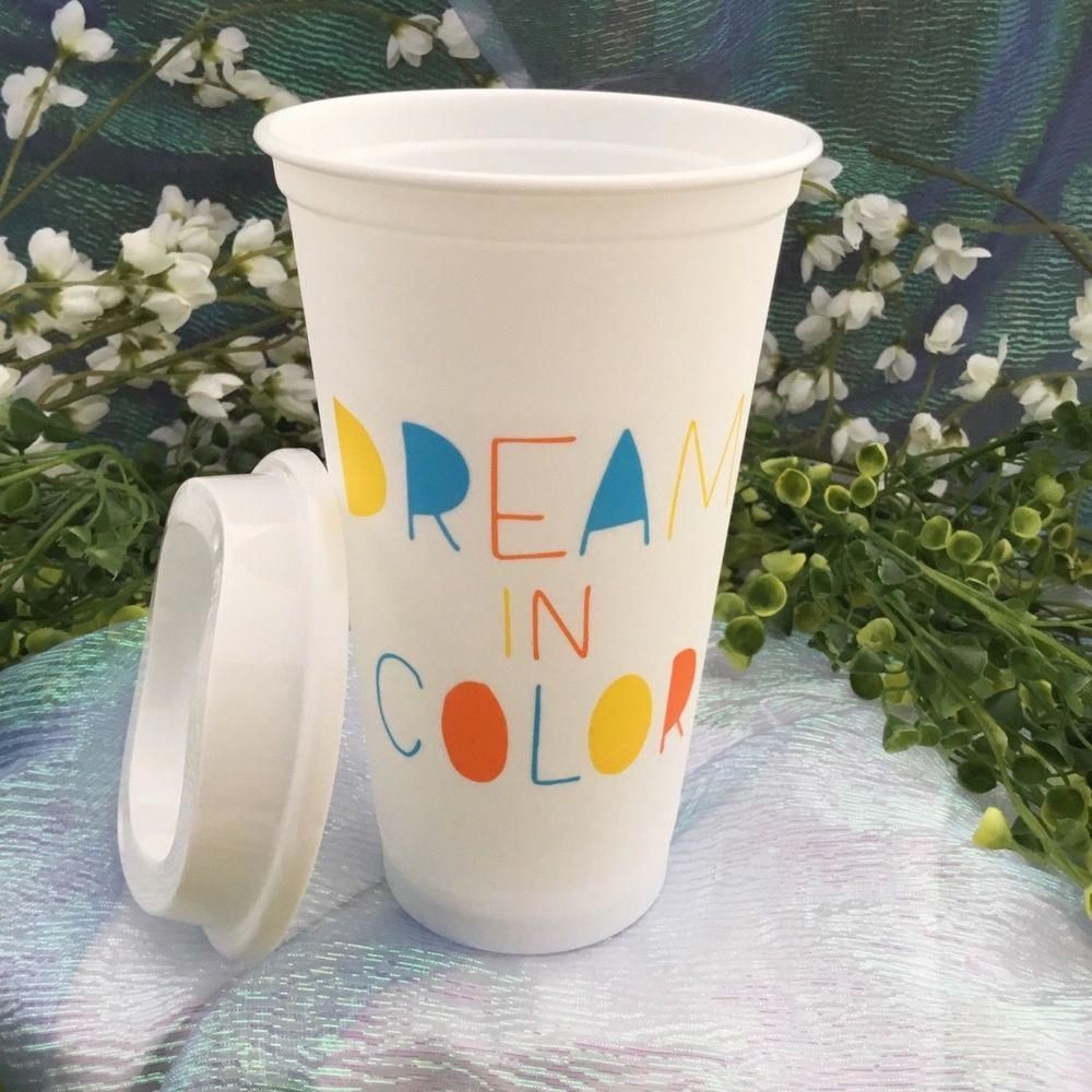 Starbucks 2018 Grande Reusable SUMMER Cup & Lid Dream In ...