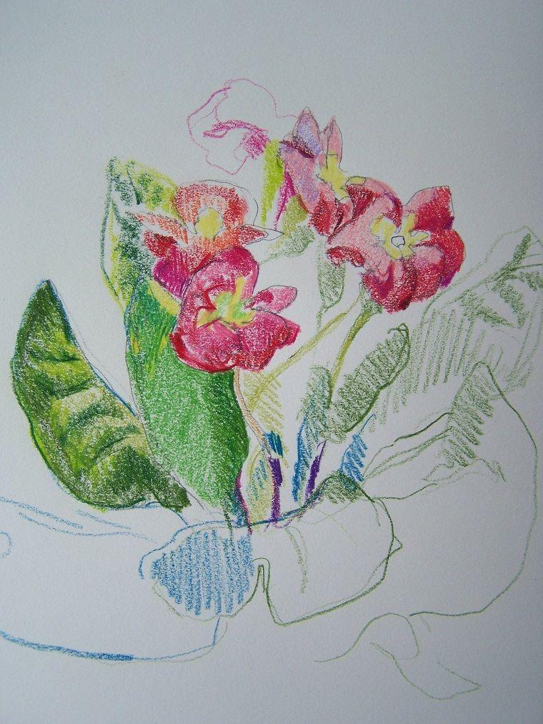 Disegni facili da disegnare colorare a mano libera con i for Fiori grandi da colorare
