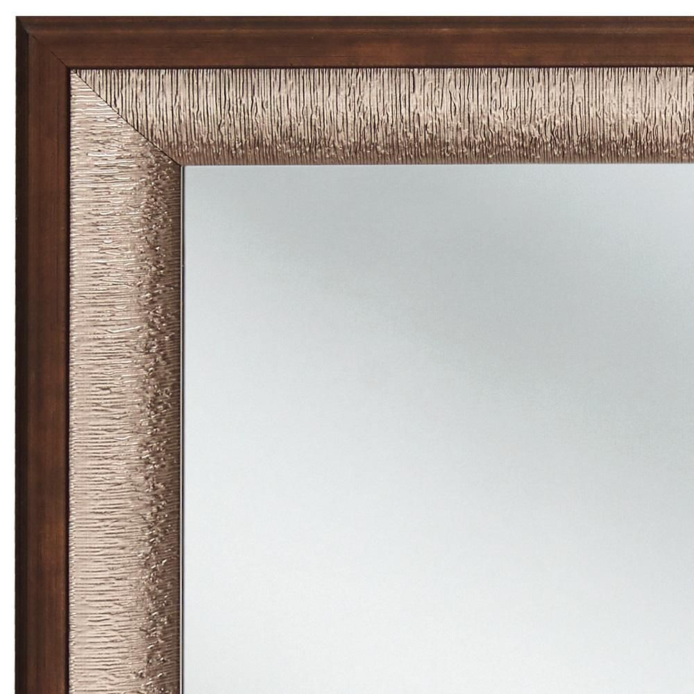 Home Decorators Collection 22 In W X 29 In H Framed Rectangular Anti Fog Bathroom Vanity Mirror In Silver 45380 The Home Depot Framed Mirror Wall Mirror Home Decorators Collection