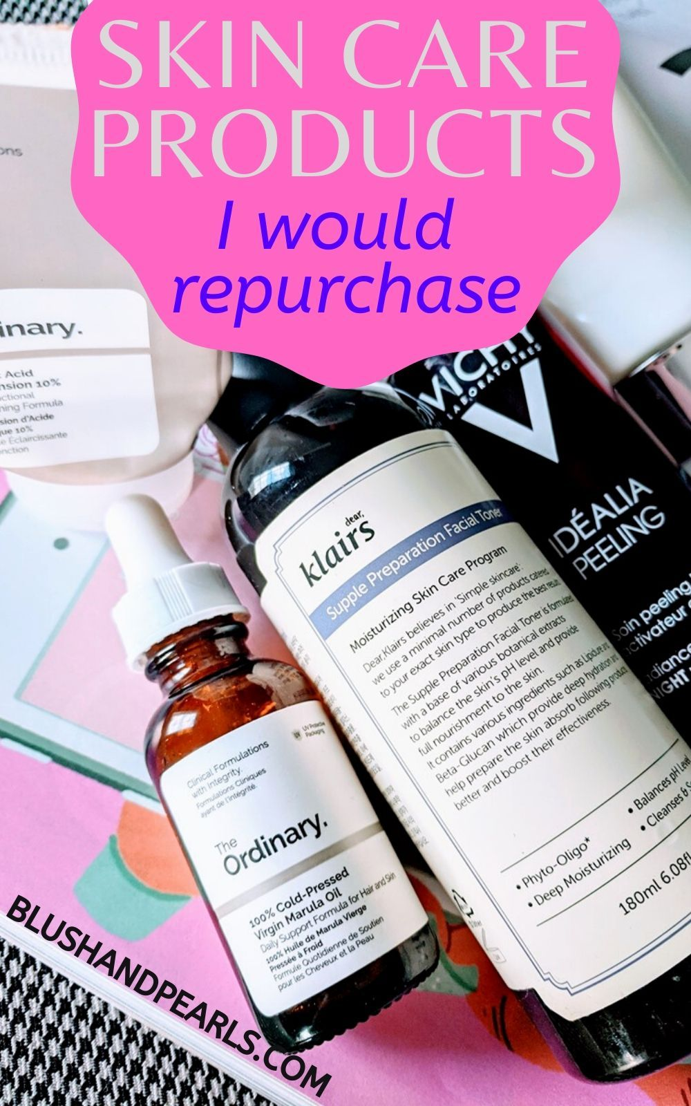 6 Skin Care Products I Would Repurchase Blush Pearls In 2020 Skin Care Natural Skin Care Routine Hydrate Dry Skin