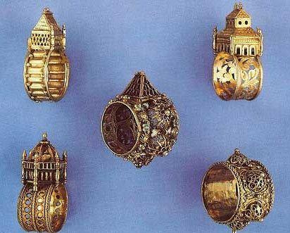 Antique Jewish Wedding Rings Judaica Jewelry Sieraden
