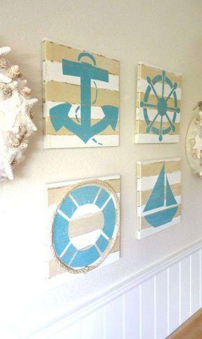 arredare casa al mare con il fai da te - quadri in stile nautico