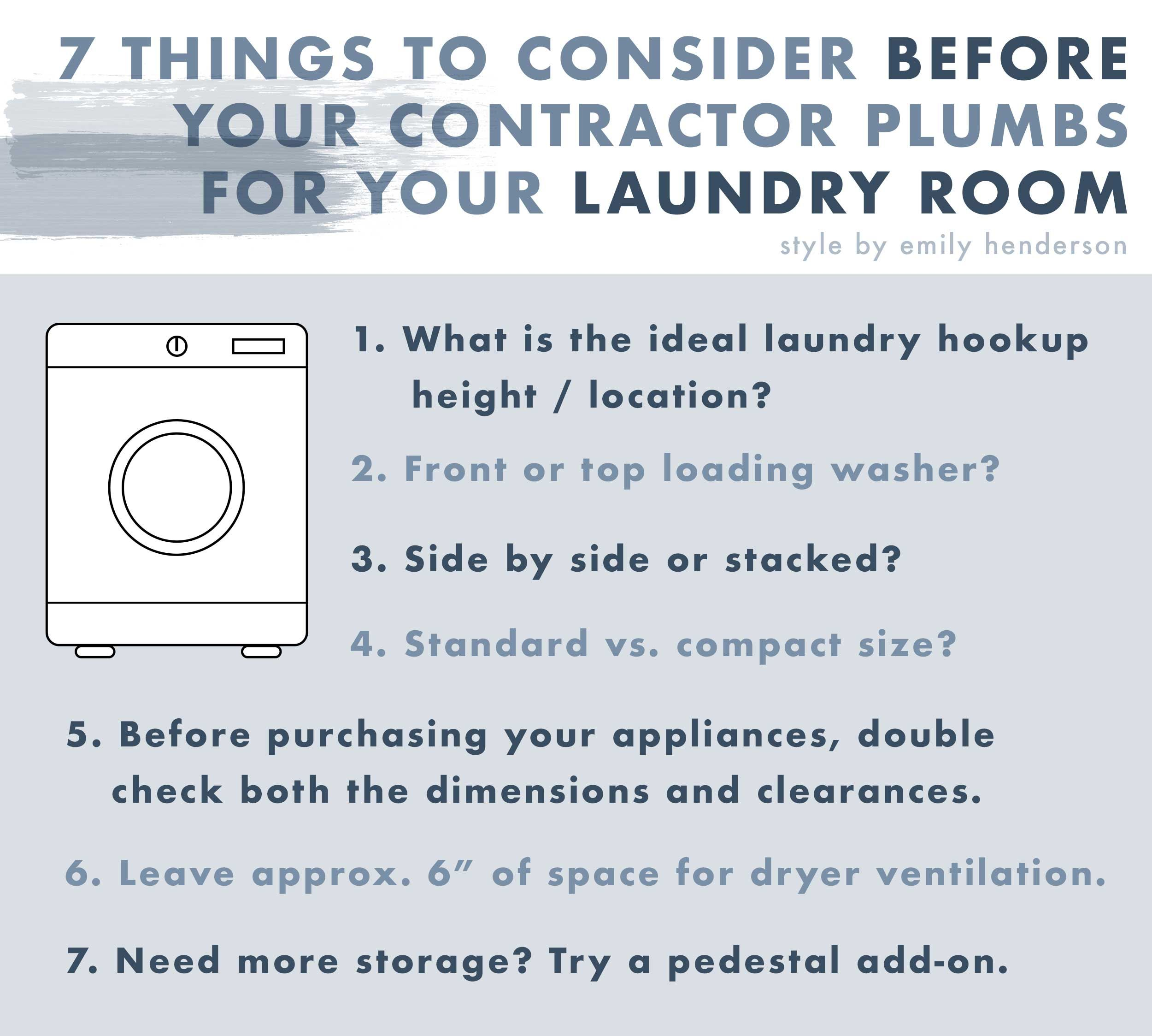 Designing Our Laundry Room The 7 Things Our Contractor And Plumber Told Us To Consider In 2020 Laundry Room Plumber Emily Henderson