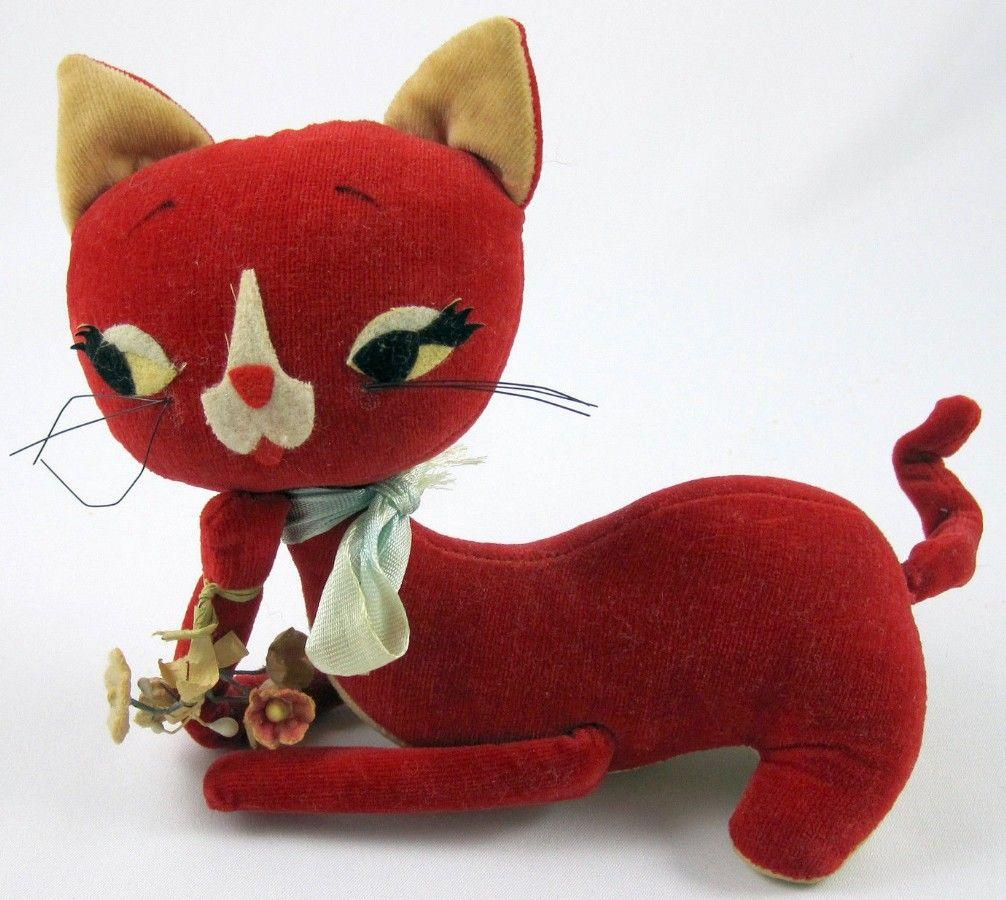 KAMAR: 1960s Living Dolls & Pets RED VELVET KITTY DollVINTAGE TOY ARCHIVE
