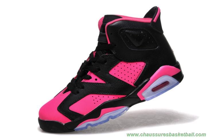 7b2d34fed3351 AIR JORDAN 6 RETRO Noir/Rose Femmes | Chaussures Basketball | Air ...