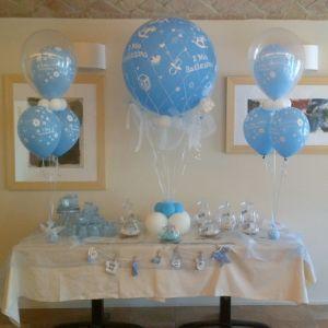 balloon a mongolfiera per il battesimo palloncini