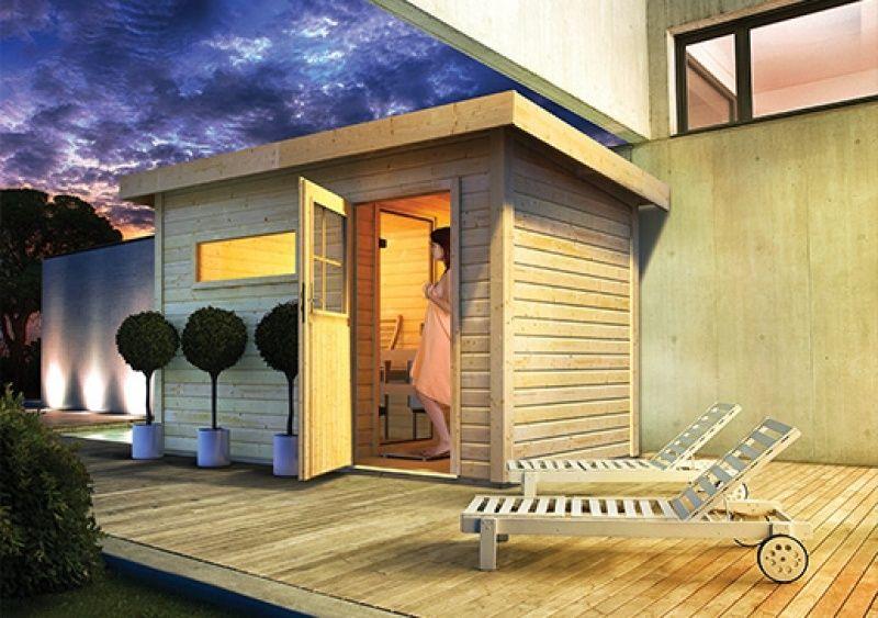 Massivholzsauna Skrollan 1 Mit Vorraum Sauna Skrollan Karibu