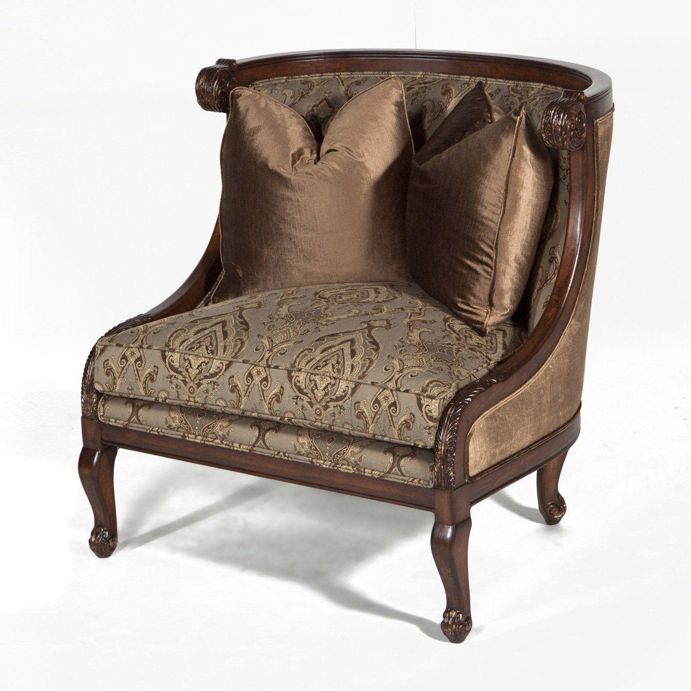 Ital Art Design Raw Eliza L Lounge Accent Chair Wingback Home Furniture
