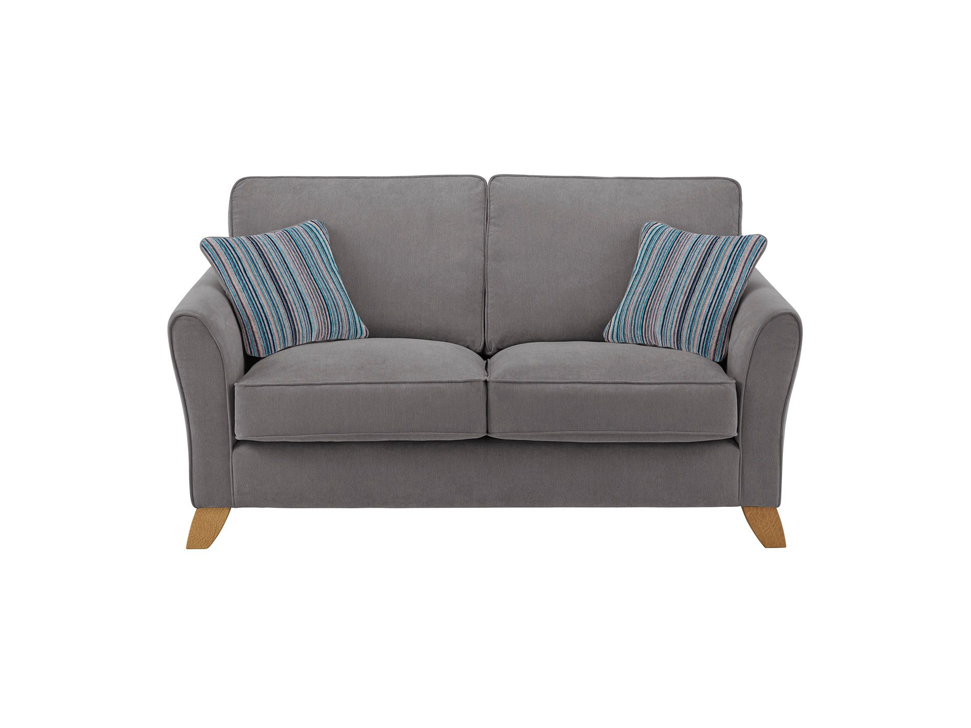 Jasmine 2 Seater Sofa In Grace Fabric Pewter With Ocean Ters