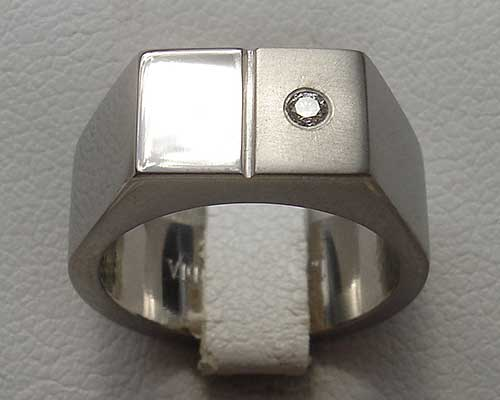 Mens Titanium Diamond Ring LOVE2HAVE in the UK
