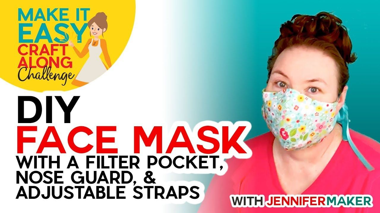 DIY Face Mask with Filter Pocket Make on a Cricut or By