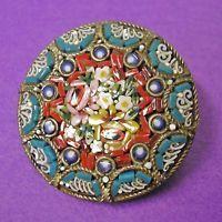 Stunning antique Art Deco Italian Micro Mosaic Millefiori brooch