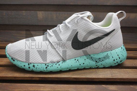 0c65269d4a61 Nike Roshe Run One Mint Splatter Speckle Custom Oreo by NYCustoms ...