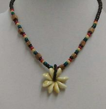 -estate-puka-flower-shaped-cowrie-wood-bead-and-shell-necklace
