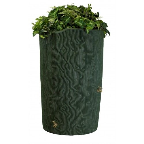 Good Ideas Impressions 90 Gallon Bark Rain Saver - Green