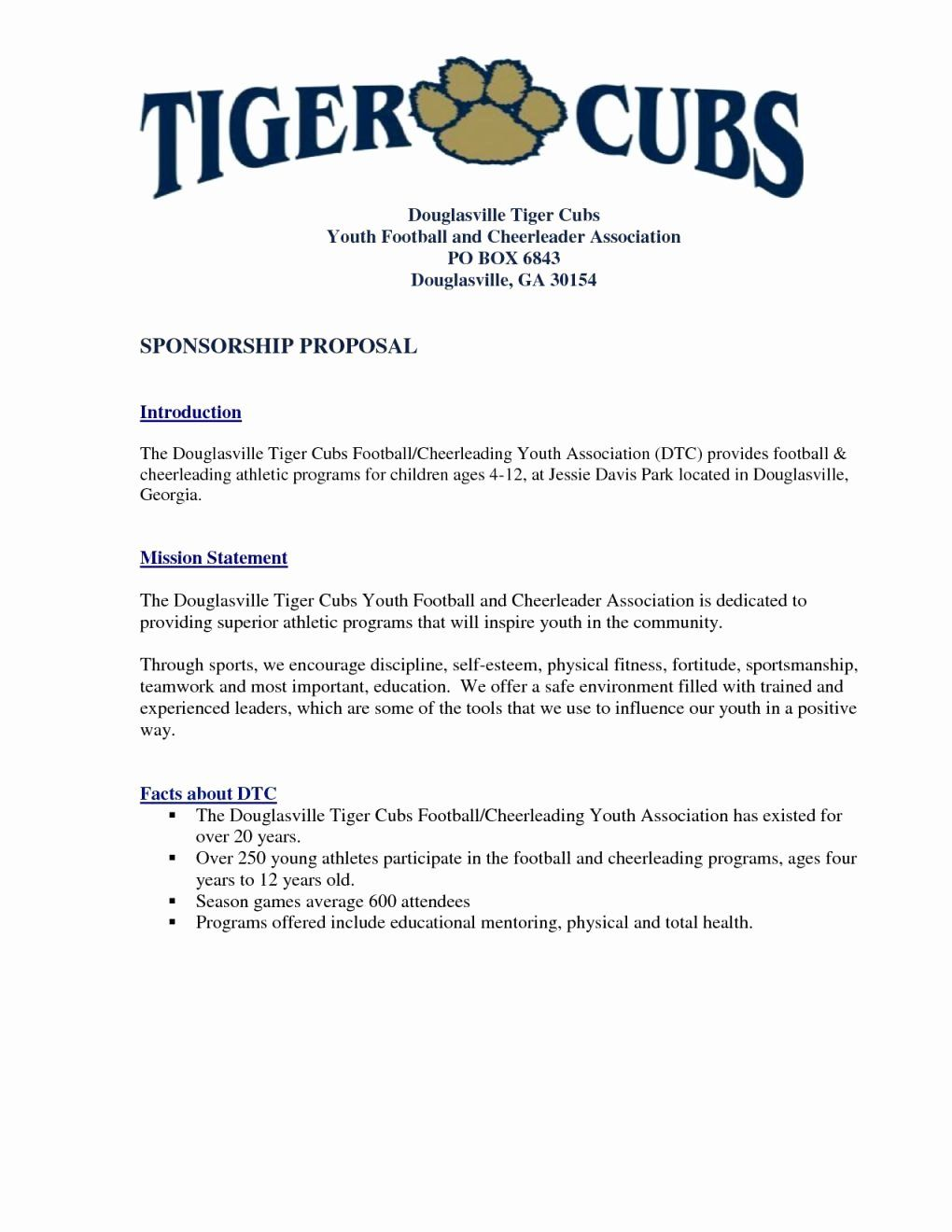 Sports Sponsorship Proposal Template Luxury Youth Football Sponsorship Letter Template Examples Sponsorship Letter Sponsorship Proposal Proposal Templates Sports team sponsorship proposal template