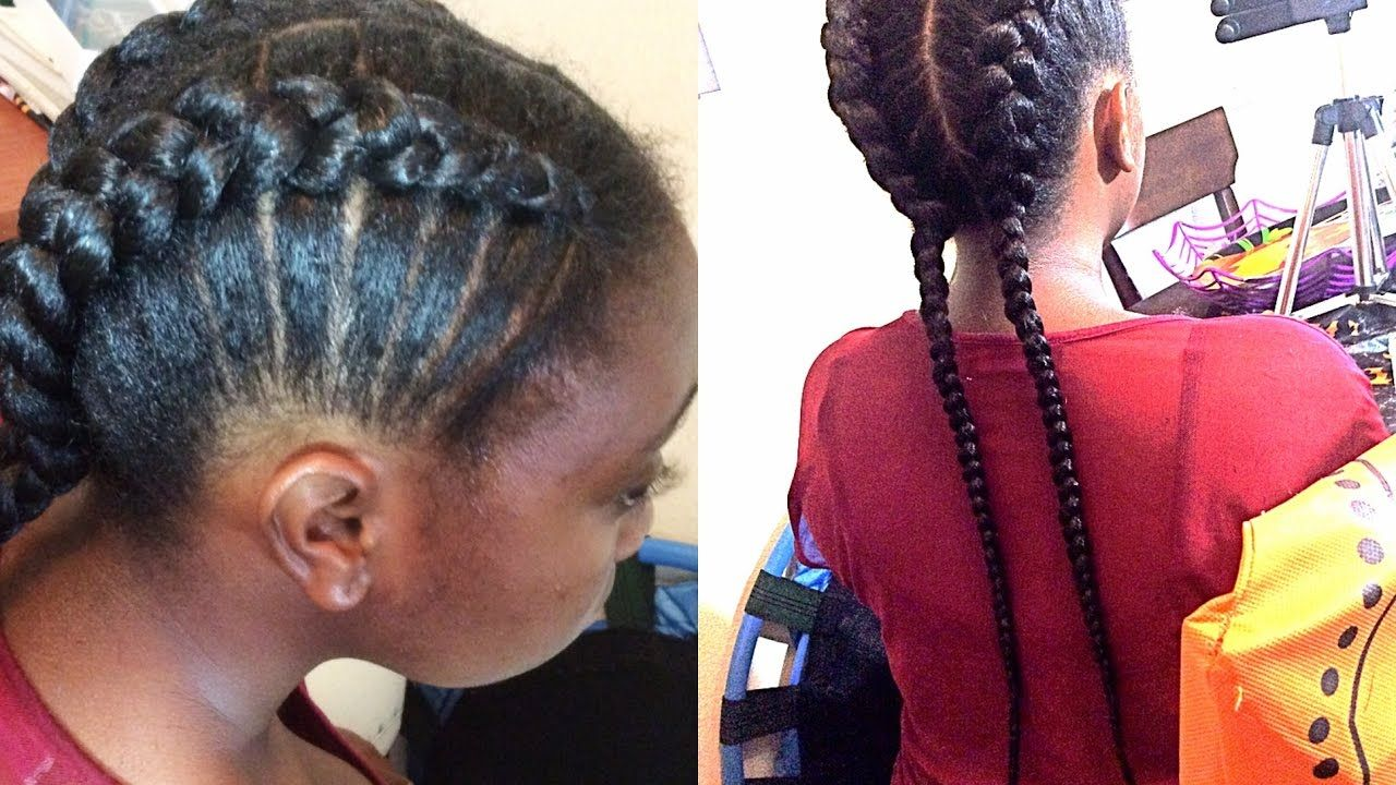 Braided Hairstyles For Kids Adorable Natural Hair Braids For Kids Braiding For Beginnerssupa Natural