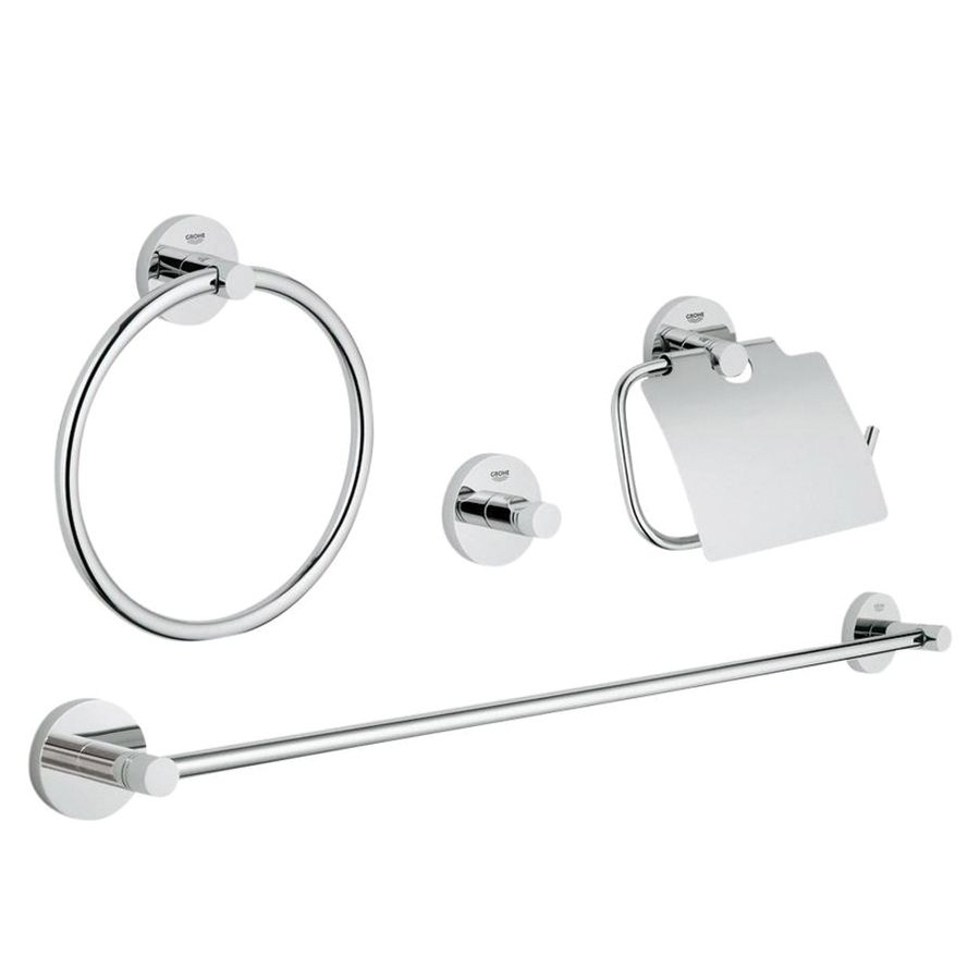 Grohe bathroom accessories - Grohe 4 Piece Essentials Chrome Decorative Bathroom Hardware Set