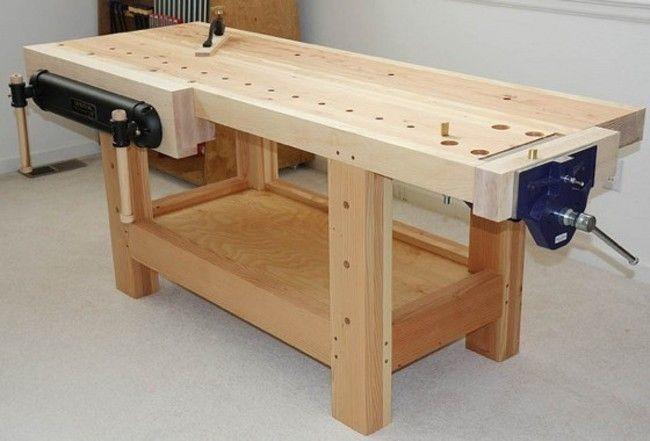 The Basic Workbench Woodworking Workbench Woodworking Bench Plans Easy Woodworking Projects