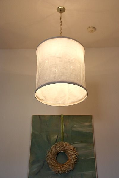 Diy fabric shade to cover ugly pendant light light it up diy fabric shade to cover ugly pendant light aloadofball