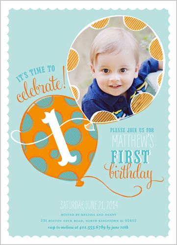 Jax First Birthday Invitation Cards Baby Boy 1st Parties