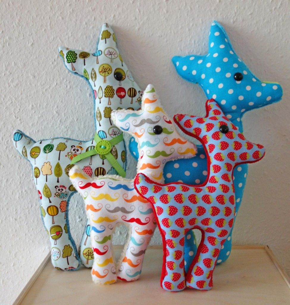Reh-Kuscheltier » BERNINA Blog #stuffedtoyspatterns