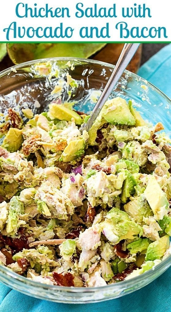 Photo of Chicken Salad with Avocado and Bacon – Thin Southern Recipes – Skinny Souther …