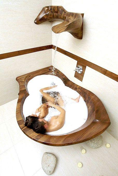 Wooden Bathtub Nirvana Wood Bathtubs Pinterest